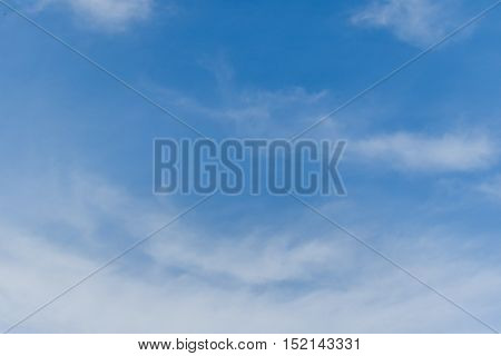 Blue sky and white clouds on a bright summer day.