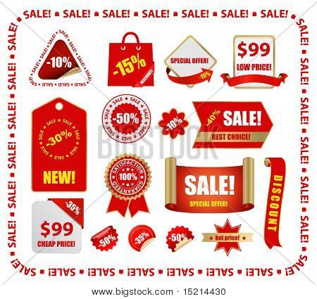 vector red sale design elements