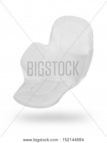 woman hygiene protection on a white background