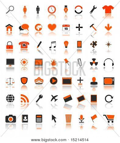 colored web icons - vector set