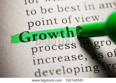 Fake Dictionary definition of the word growth.