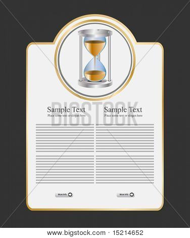 vector sand clock on template
