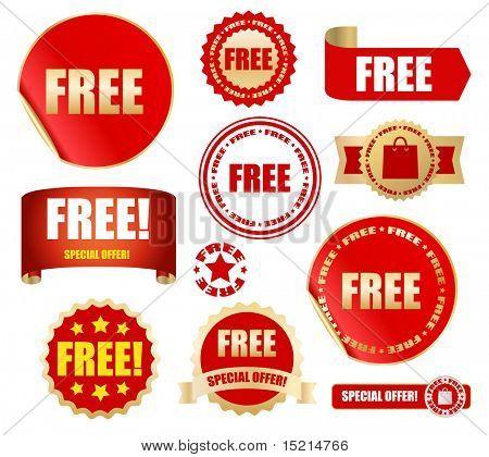 free labels set - vector