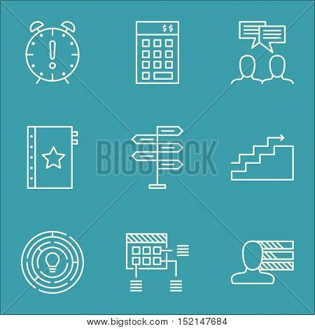 Set Of Project Management Icons On Opportunity, Innovation And Growth Topics. Editable Vector Illust