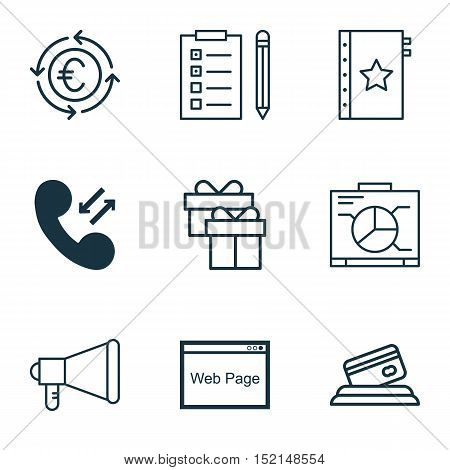 Set Of 9 Universal Editable Icons For Travel, Airport And Marketing Topics. Includes Icons Such As C