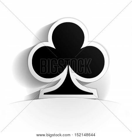 club icon in paper style full vector