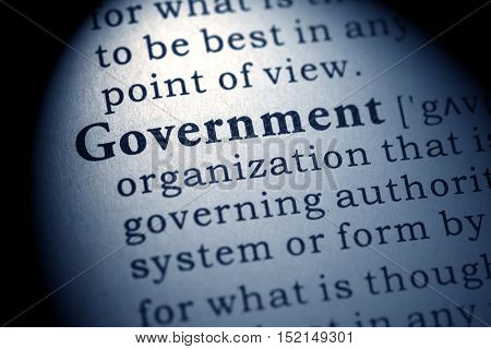 Fake Dictionary Dictionary definition of the word government.