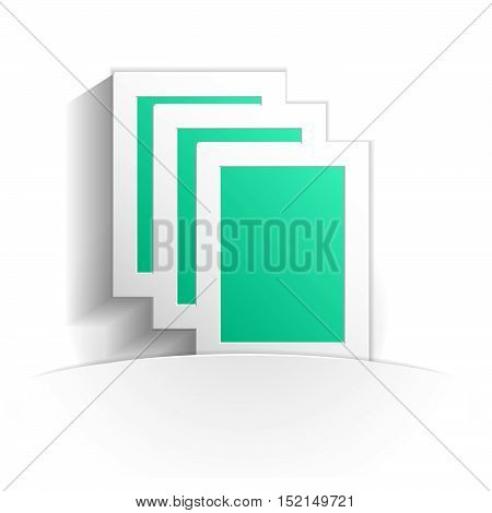 documents icon in paper style full vector