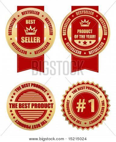 vector business labels - bestseller