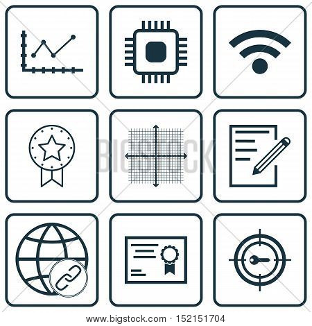 Set Of 9 Universal Editable Icons For Education, Project Management And Seo Topics. Includes Icons S