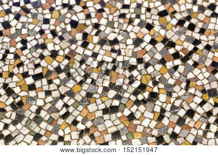 Terrazzo Small Square Random Mosaic Tiles Made From Marble