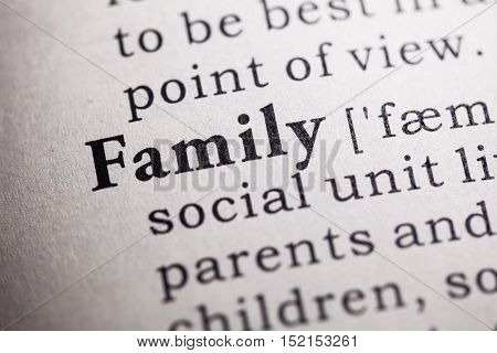 Fake Dictionary Dictionary definition of the word family.