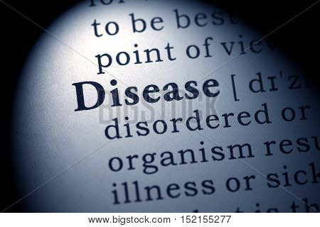 Fake Dictionary Dictionary definition of the word Disease.