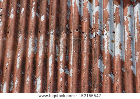 Rusty Corrugated Metal pattern for  background  use