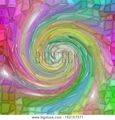 Abstract coloring background of the color harmonies gradient with visual mosaic,twirl and plastic wrap  effects