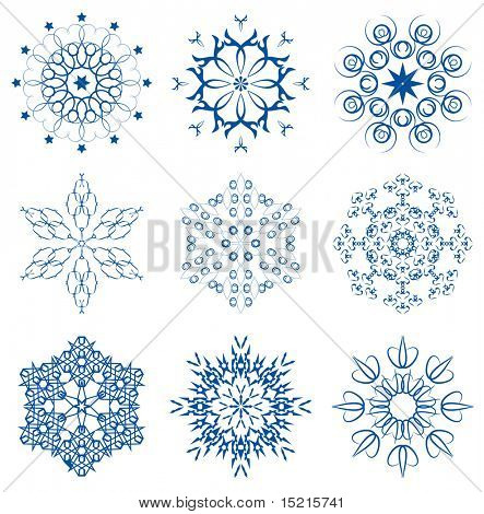 winter original snowflakes set