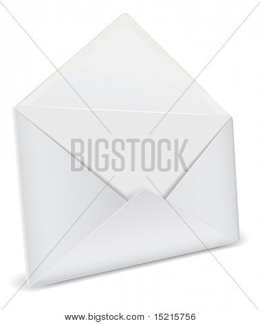 opened envelope detailed icon