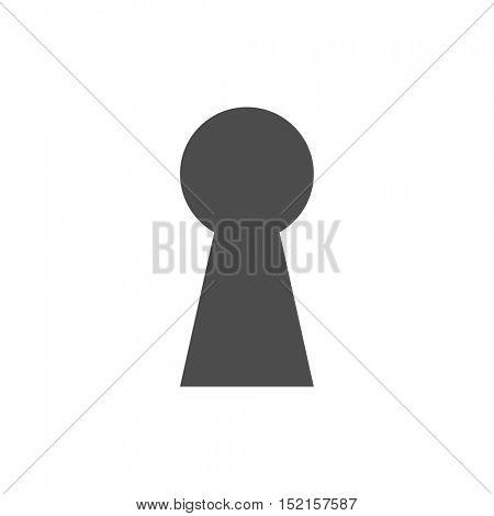 Keyhole icon illustration isolated on a white background