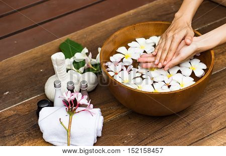Spa treatment and product for female feet and hand spa Thailand. select and soft focus