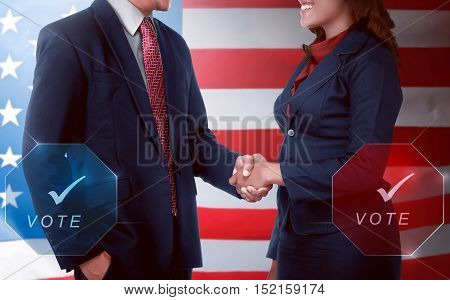 Two Election Candidates Handshake