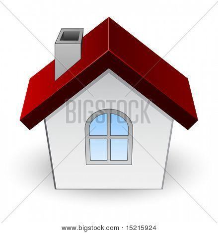 house icon with arc window