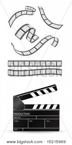 tablilla y película tira - sistema de vector