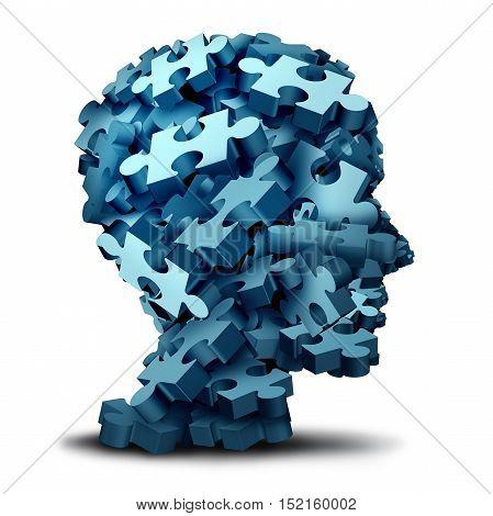 Psychology puzzle concept