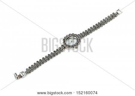 Luxury female watch isolated on white background