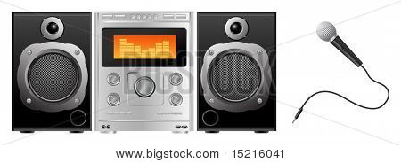 music audio system and microphone