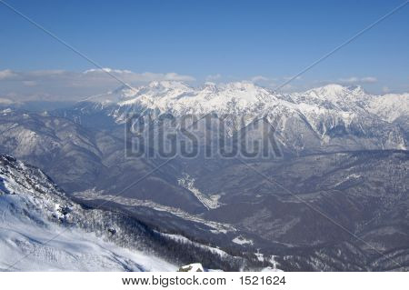 The Mountains In Krasnaya Polyana.