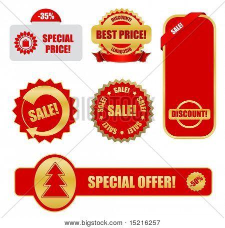 elementos de diseño para empresas - etiquetas de venta