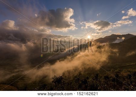 Clouds heaven in Vietnam, Ta Xua, Bac Yen, Son La