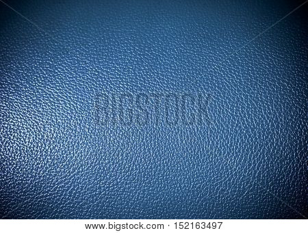 blue leatherette Surface texture as background grung texture