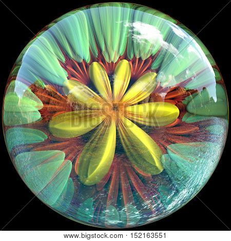 Glossy Flower Button