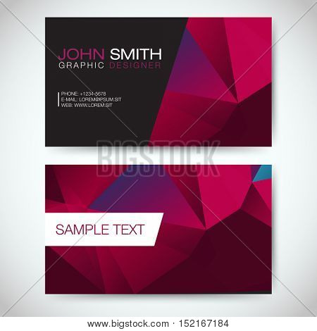 Red and Purple Modern Business Card Set | EPS10 Vector Design