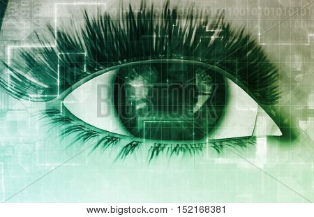 Online Privacy Intercepting Personal Data as a Concept 3d Illustration Render
