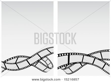 abstract background with film strip