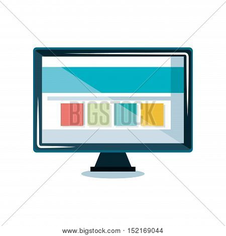 monitor computer display icon vector illustration design