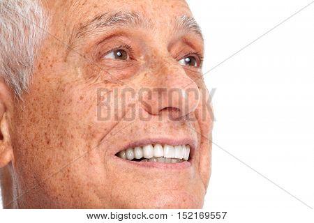 Senior man smile.