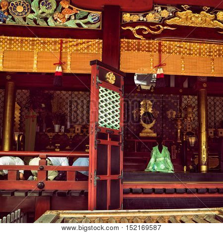 Dazaifu - July 2016: Ceremony in Dazaifu Tenmangu Shrine.