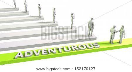 Adventurous Mindset for a Successful Business Concept 3d Illustration Render