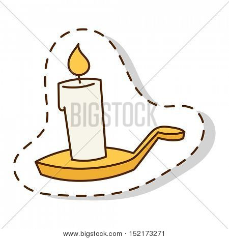 Vector candle isolated