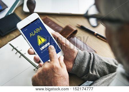 Alarm Caution Risk Danger Attention Concept