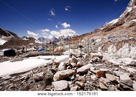 Everest base camp, Everest region, Khumbu Nepal