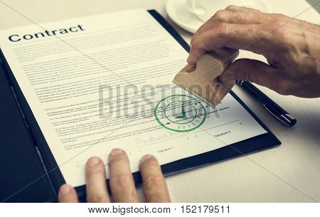 Business Contract Form Document Concept