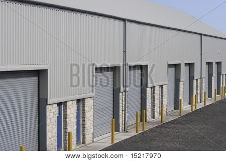 Industrial building unit or warehouse.