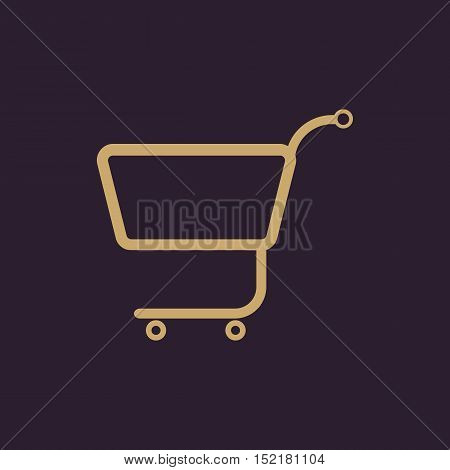 The shopping cart icon. Shopping cart. Flat Vector illustration