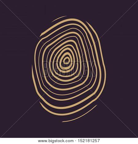 The fingerprint icon. Fingerprint symbol . Flat Vector illustration