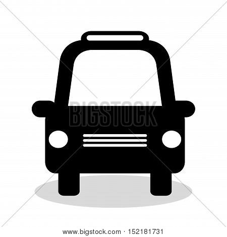 taxi service vehicle isolated icon vector illustration design