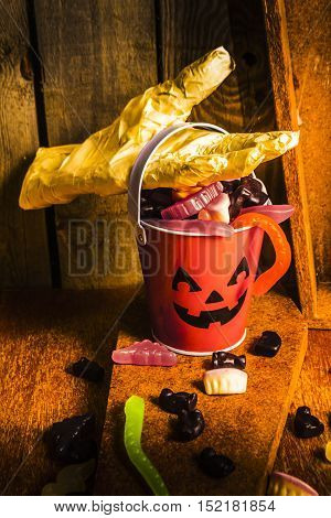 Halloween Candy Still Life